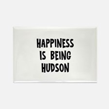 Happiness is being Hudson Rectangle Magnet (10 pac