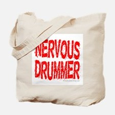 Nervous Drummer : Tote Bag