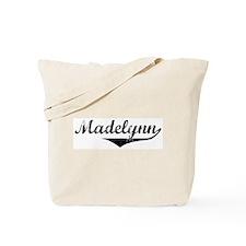Madelynn Vintage (Black) Tote Bag