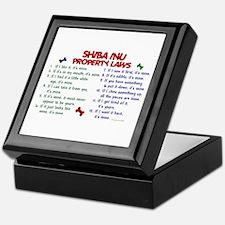 Shiba Inu Property Laws 2 Keepsake Box