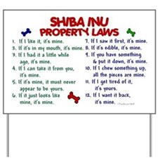 Shiba Inu Property Laws 2 Yard Sign
