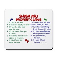 Shiba Inu Property Laws 2 Mousepad