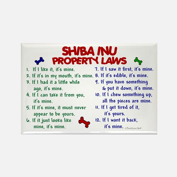 Shiba Inu Property Laws 2 Rectangle Magnet