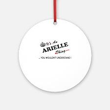 Cute Arielle Round Ornament