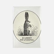 Cute Rabbit bunny baby adorable art illustration waterc Rectangle Magnet