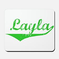 Layla Vintage (Green) Mousepad