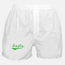Layla Vintage (Green) Boxer Shorts