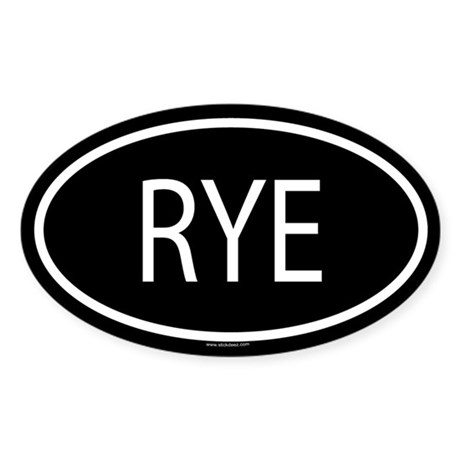 RYE Oval Sticker