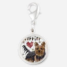 Geometric Yorkshire Terrier Charms