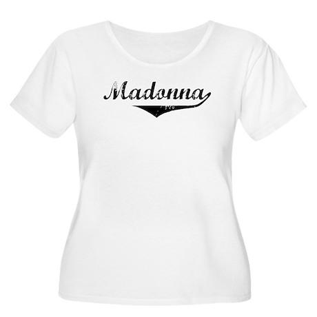 Madonna Vintage (Black) Women's Plus Size Scoop Ne
