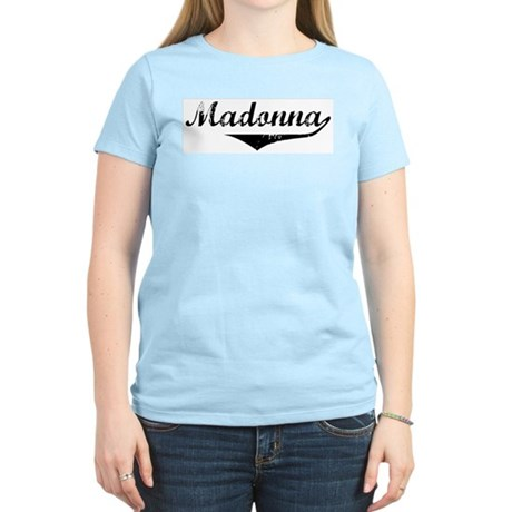 Madonna Vintage (Black) Women's Light T-Shirt