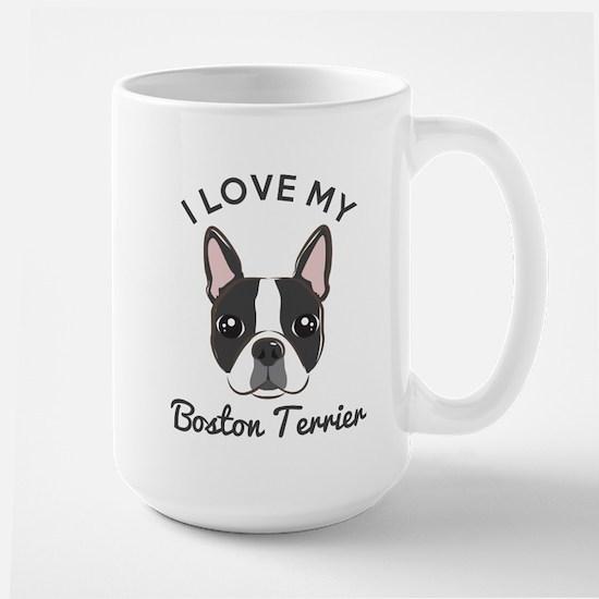 I Love My Boston Terrier Mug Mugs