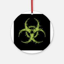Biohazard -distressed Round Ornament