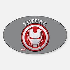 Iron Man Future Sticker (Oval)