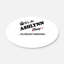 Cute Ashlynn Oval Car Magnet