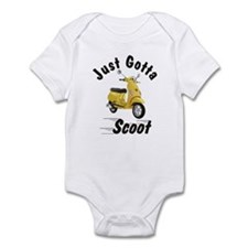 Vespa LX Yellow Infant Bodysuit