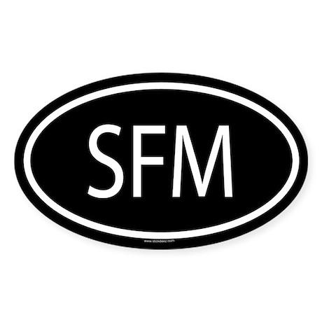 SFM Oval Sticker