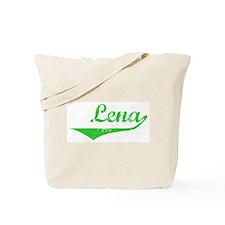 Lena Vintage (Green) Tote Bag