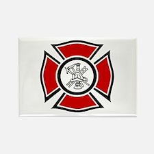 Fire Maltese Rectangle Magnet