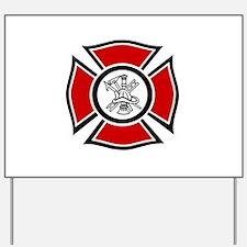 Fire Maltese Yard Sign