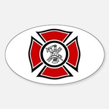Fire Maltese Oval Decal