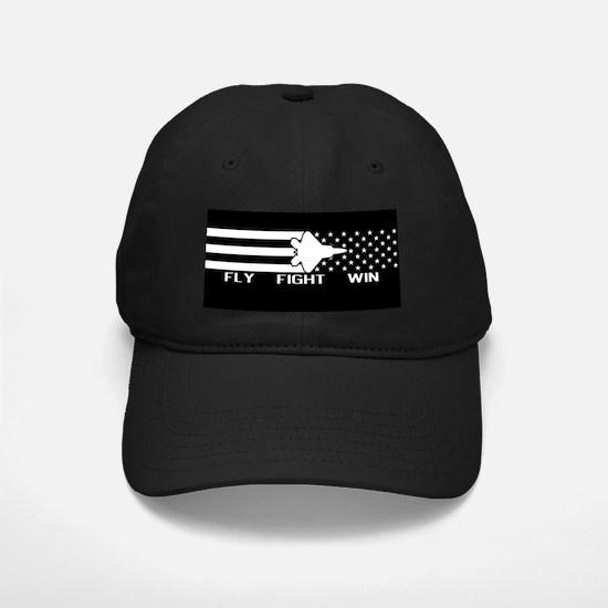 U.S. Military: F-22 - Fly Fight Win (Bla Baseball Hat