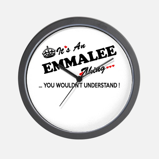 Cute Emmalee Wall Clock