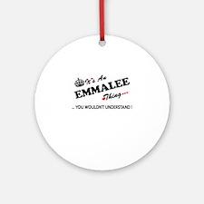 Cute Emmalee Round Ornament