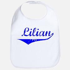 Lilian Vintage (Blue) Bib