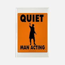 Man Acting Road Sign Fridge Magnet