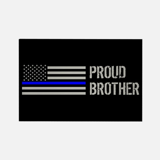 Police: Proud Brother Rectangle Magnet