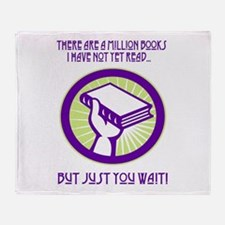 A million books I have yet to read Throw Blanket