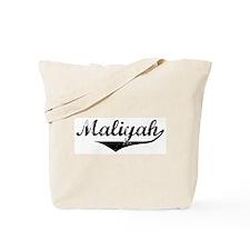 Maliyah Vintage (Black) Tote Bag