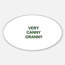 """Very Canny Granny"" Oval Decal"