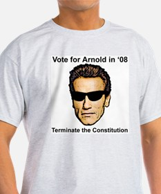 No to Arnold in '08 Ash Grey T-Shirt