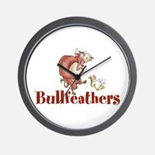 Bullfeathers Logo Wall Clock
