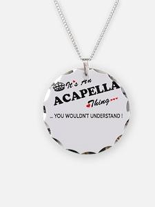 Unique Acapella Necklace