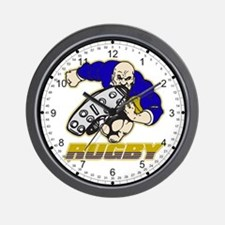Rugby Player Wall Clock