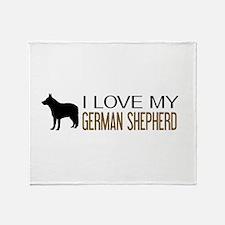 Dogs: I Love My German Shepherd Throw Blanket