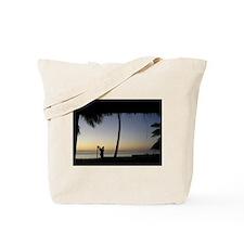 Tiki Torch at Sunset Tote Bag