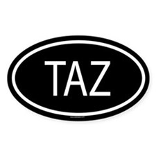 TAZ Oval Decal