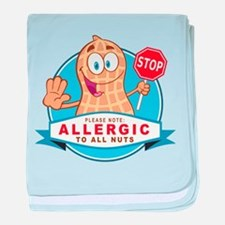Allergic All Nuts baby blanket