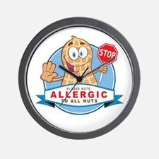 Allergic All Nuts Wall Clock