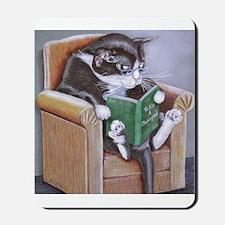 Reading Cat Mousepad