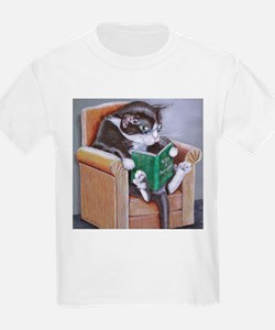Reading Cat T-Shirt