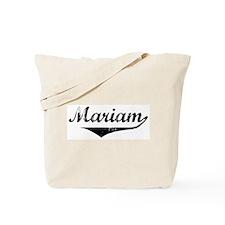 Mariam Vintage (Black) Tote Bag