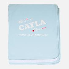Cute Cayla baby blanket