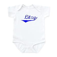 Litzy Vintage (Blue) Infant Bodysuit