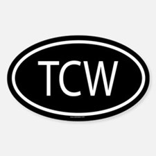 TCW Oval Decal