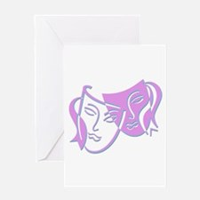 Pastel Masks Greeting Card